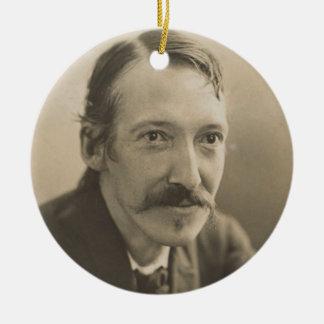 Ornamento De Cerâmica Retrato da foto de Robert Louis Stevenson do