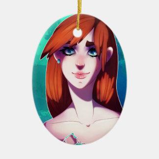 Ornamento De Cerâmica Retrato da menina