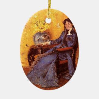 Ornamento De Cerâmica Retrato da senhorita Dora Wheele