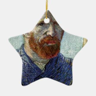Ornamento De Cerâmica Retrato de auto de Van Gogh