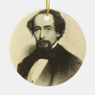 Ornamento De Cerâmica Retrato de Charles Dickens do vintage