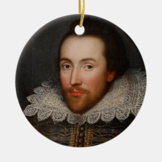 Ornamento De Cerâmica Retrato de William Shakespeare do vintage