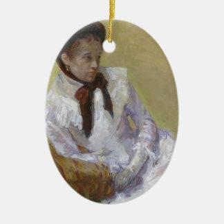 Ornamento De Cerâmica Retrato do artista - Mary Cassatt