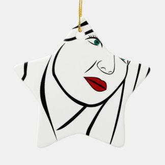 Ornamento De Cerâmica Retrato fêmea