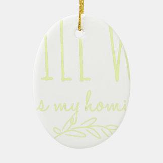 Ornamento De Cerâmica Reuniões do AA da bolsa de estudo do ficar em casa