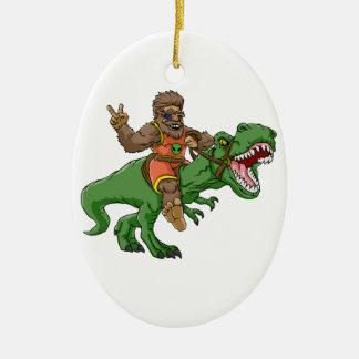 Ornamento De Cerâmica rex bigfoot do rex-T dos bigfoot-desenhos animados