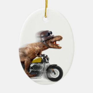 Ornamento De Cerâmica Rex dos motocicleta-tiranossauros-t do rex de T -