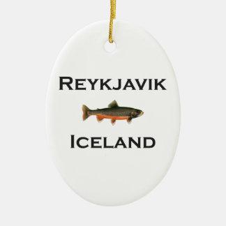 Ornamento De Cerâmica Reykjavik Islândia