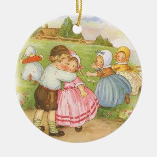 Ornamento De Cerâmica Rima de berçário do ganso de mãe de Georgie Porgie