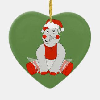 Ornamento De Cerâmica Rinoceronte da bailarina - Special do Natal