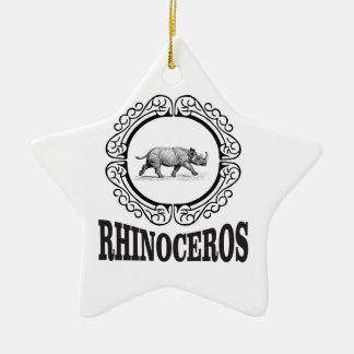 Ornamento De Cerâmica Rinoceronte do círculo