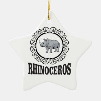 Ornamento De Cerâmica Rinoceronte na caneca
