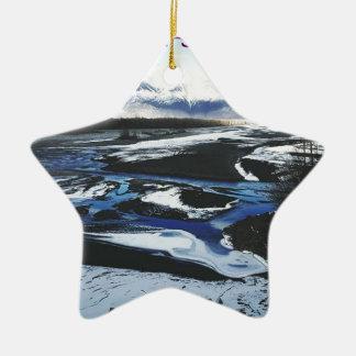 Ornamento De Cerâmica Rio congelado de Knik