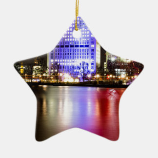 Ornamento De Cerâmica Rio Tamisa na cor na noite