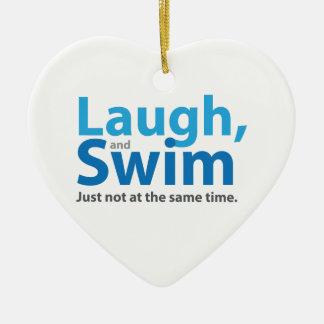 Ornamento De Cerâmica Riso e natação… mas não ao mesmo tempo