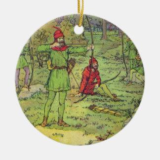 Ornamento De Cerâmica Robin Hood na floresta