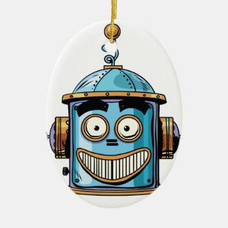 Ornamento De Cerâmica Robo