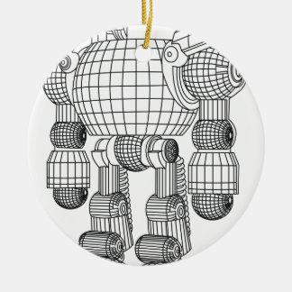 Ornamento De Cerâmica robô