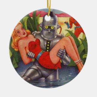 Ornamento De Cerâmica Robô do bandido