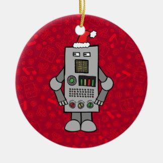 Ornamento De Cerâmica Robô do papai noel