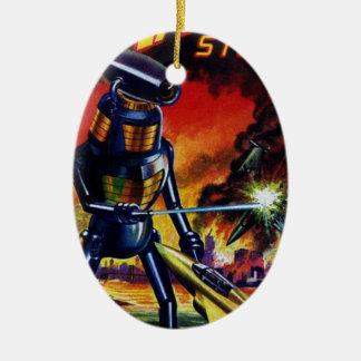 Ornamento De Cerâmica Robô estrangeiro mau