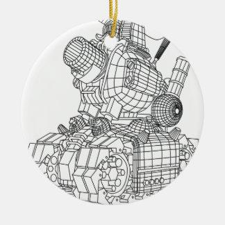 Ornamento De Cerâmica robot-2