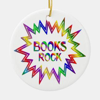 Ornamento De Cerâmica Rocha dos livros