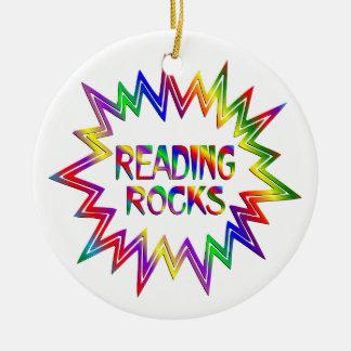 Ornamento De Cerâmica Rochas da leitura