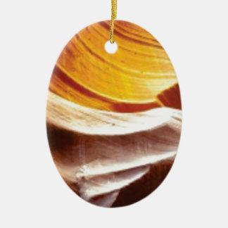 Ornamento De Cerâmica rochas tan do sol da laranja