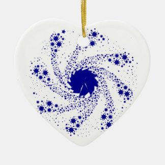 Ornamento De Cerâmica Roda azul do Pin