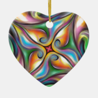 Ornamento De Cerâmica Roda colorida transições macia misturadas da