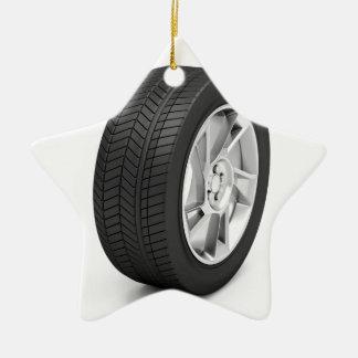Ornamento De Cerâmica Roda de carro