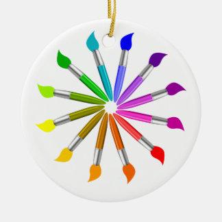 Ornamento De Cerâmica Roda de cor da escova de pintura, teoria da cor do