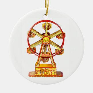 Ornamento De Cerâmica Roda de Ferris mecânica do vintage