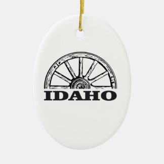 Ornamento De Cerâmica Roda de vagão de Idaho