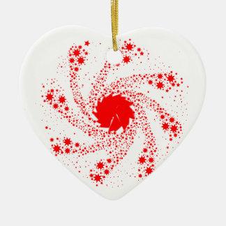 Ornamento De Cerâmica Roda vermelha do Pin