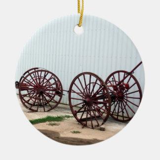Ornamento De Cerâmica Rodas de vagão