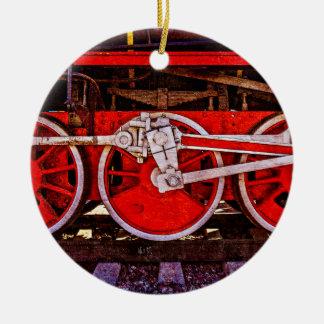 Ornamento De Cerâmica Rodas do trem do vapor do vintage