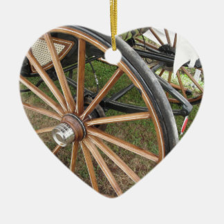 Ornamento De Cerâmica Rodas traseiras da carruagem antiquado do cavalo