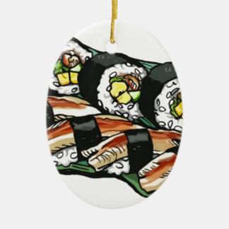 Ornamento De Cerâmica Rolo de sushi