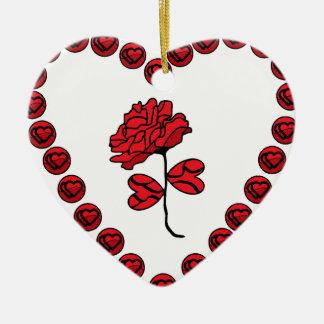 Ornamento De Cerâmica romântico aumentou