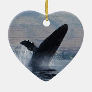 Ornamento De Cerâmica rompimento da baleia do humback