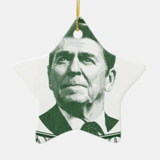 Ornamento De Cerâmica Ronald Reagan uma nação sob o deus