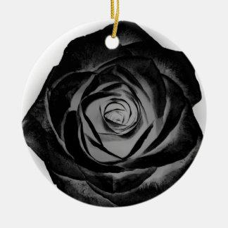 Ornamento De Cerâmica Rosa 20171027 do preto