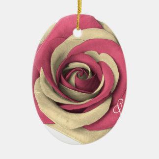 Ornamento De Cerâmica Rosa cor-de-rosa
