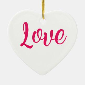 Ornamento De Cerâmica Rosa do amor