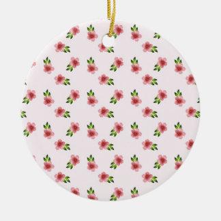 Ornamento De Cerâmica Rosa floral