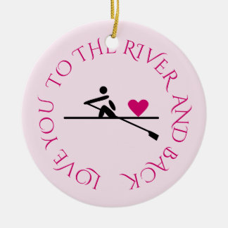 Ornamento De Cerâmica Rosa romântico do rower da foto feita sob