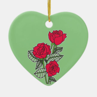 Ornamento De Cerâmica Rosas