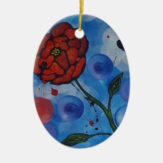 Ornamento De Cerâmica rosas & bolhas
